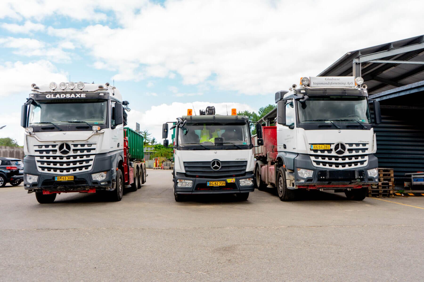 Tre typer lastbiler